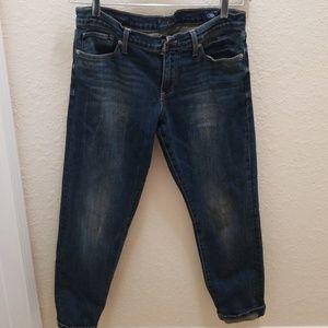 Dark denim Jeans boyfriend style
